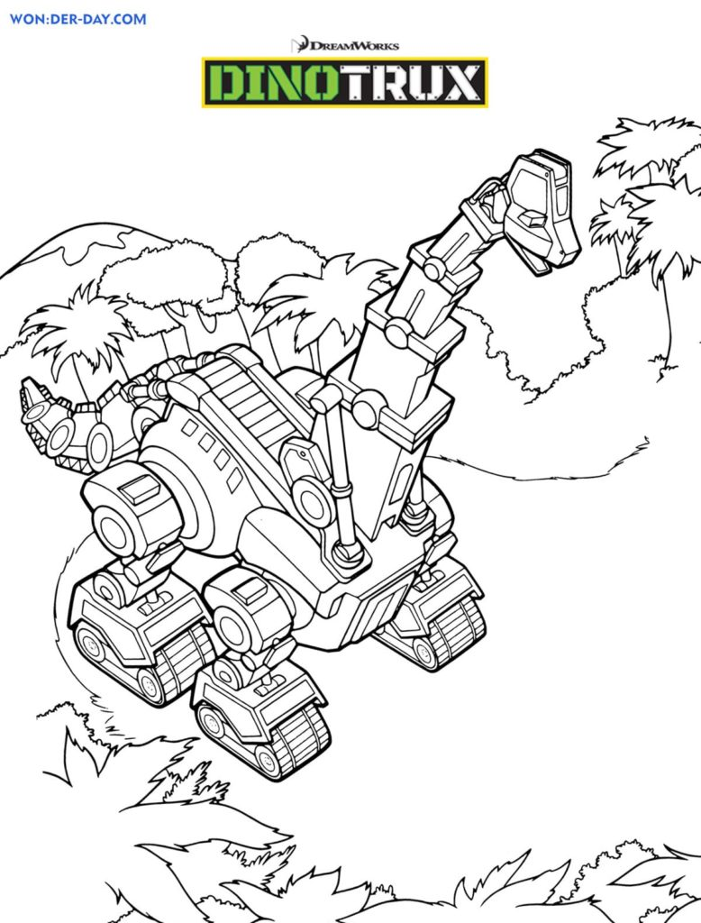 Dinotrux Malvorlage