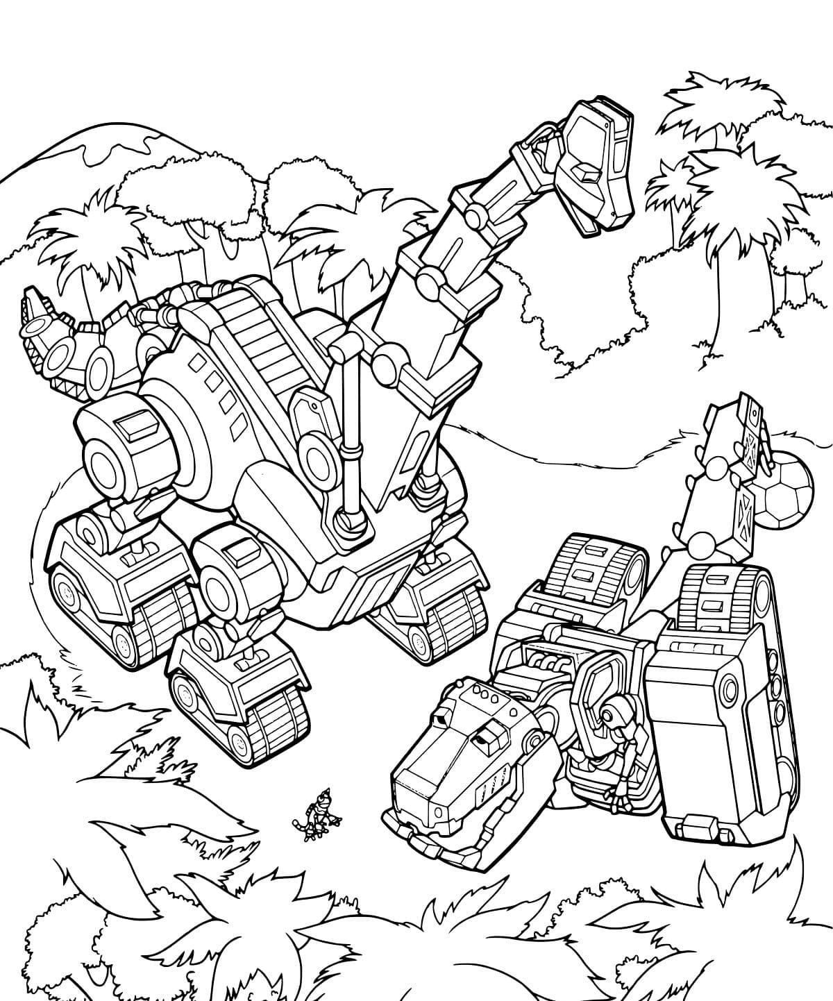 Malvorlagen Dinotrux Ausmalbilder zum ausdrucken