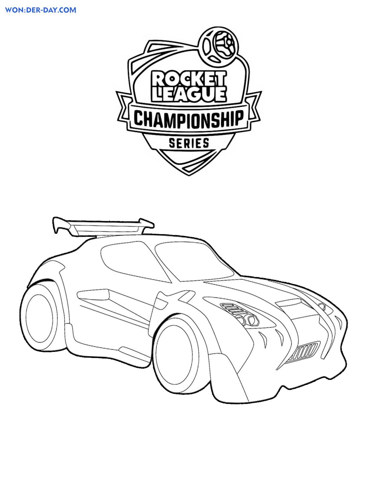 Rocket League Drawing : rocket, league, drawing, Rocket, League, Coloring, Pages, Print, WONDER