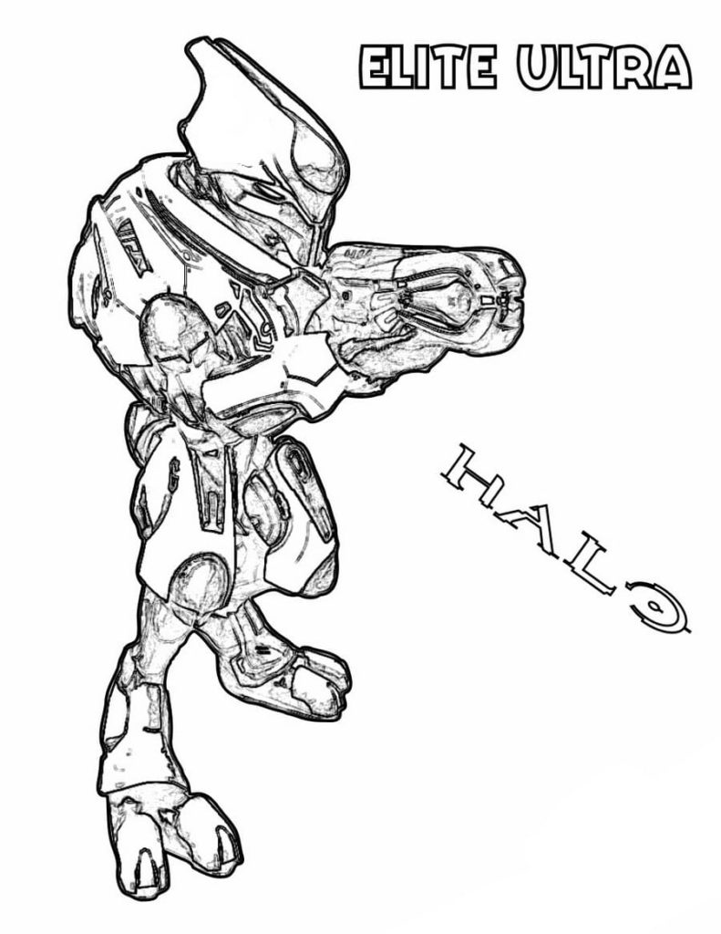 Halo Elite Coloring Pages : elite, coloring, pages, Coloring, Pages, Printable