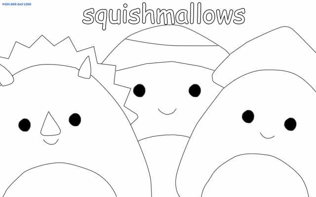 Squishmallows coloring pages - Printable coloring pages
