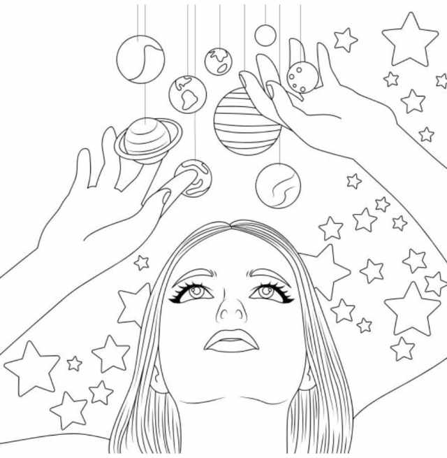 Aesthetics Coloring Pages - 20 Free coloring pages