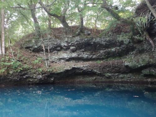 Shima lake's blue water