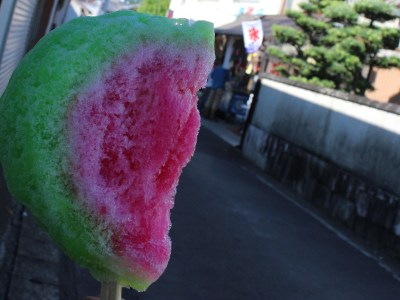 Watermelon shaved ice at Naka gori shop