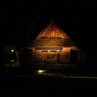 Night walk in Ainokura Village