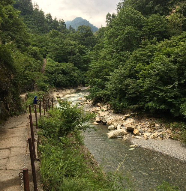 Path to Ubagataki Falls and Oyadani hot spring
