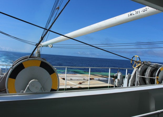 Back Deck on board Ogasawara Maru
