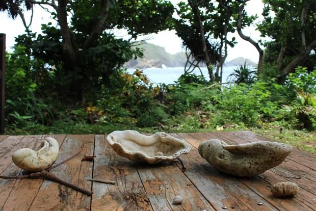 Picnic table near Minamizaki Beach