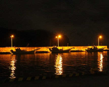 Night view of Oki Port