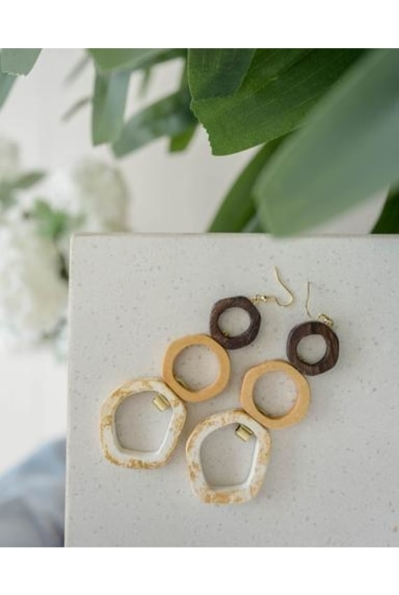FEBRUARY LIFESTYLE The Wood Work Earrings in the Trio