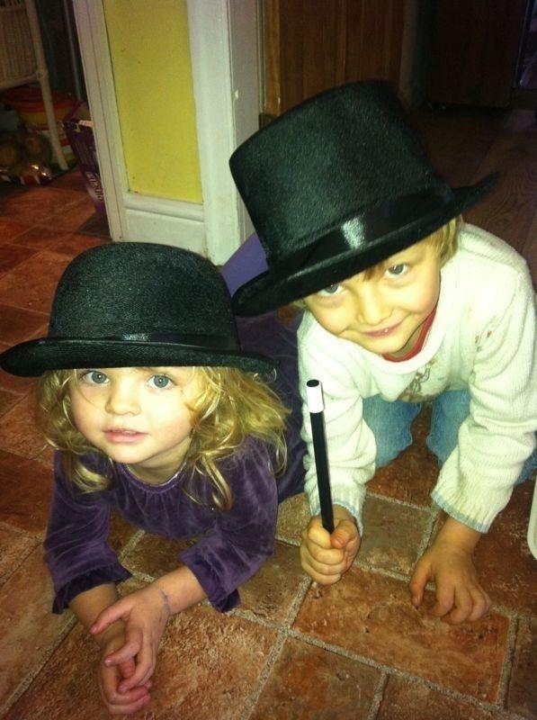 children doing magic show