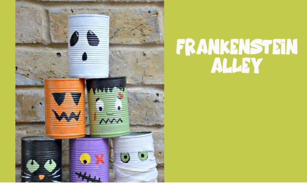 Halloween tin can alley