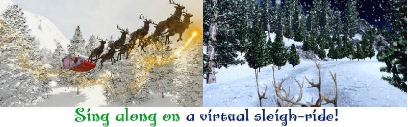 Jingle Bells kids fun sleigh ride