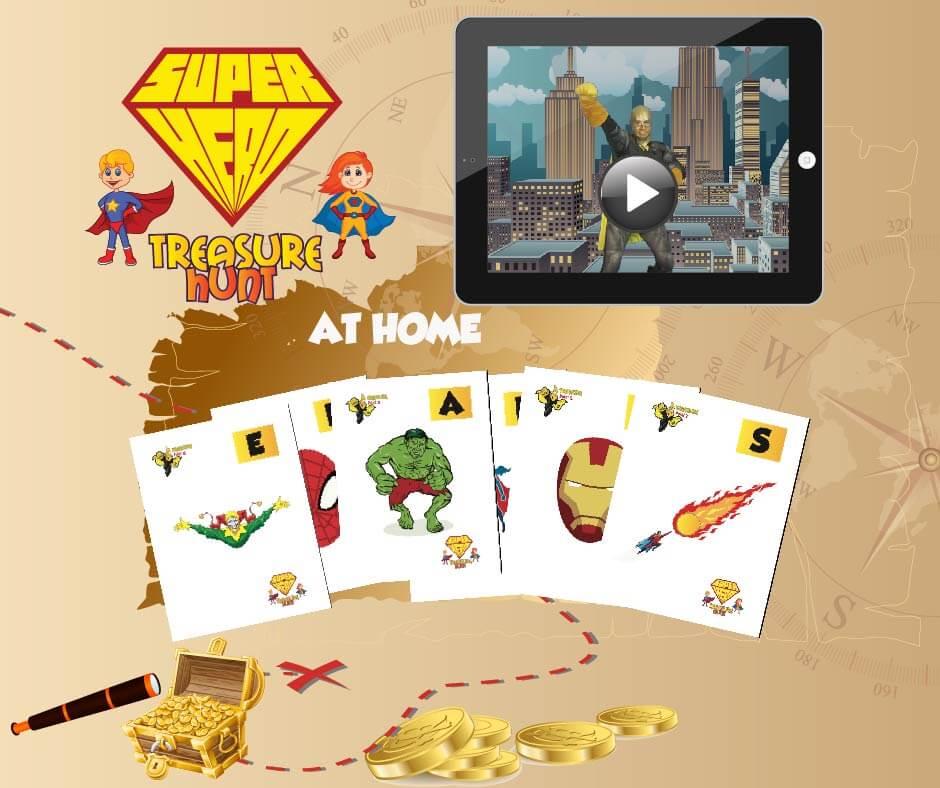 superhero treasure hunt for kids