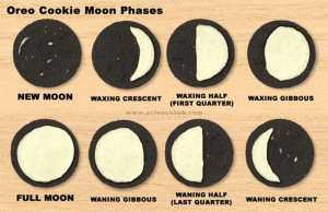 oreo cookies moon activity