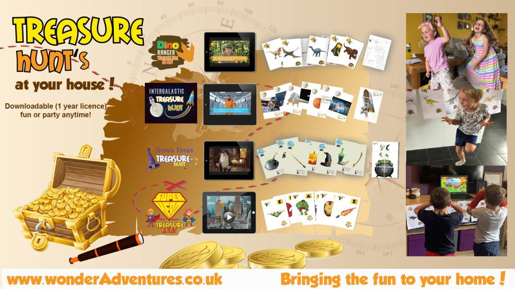 treasure hunt activity packs for kids