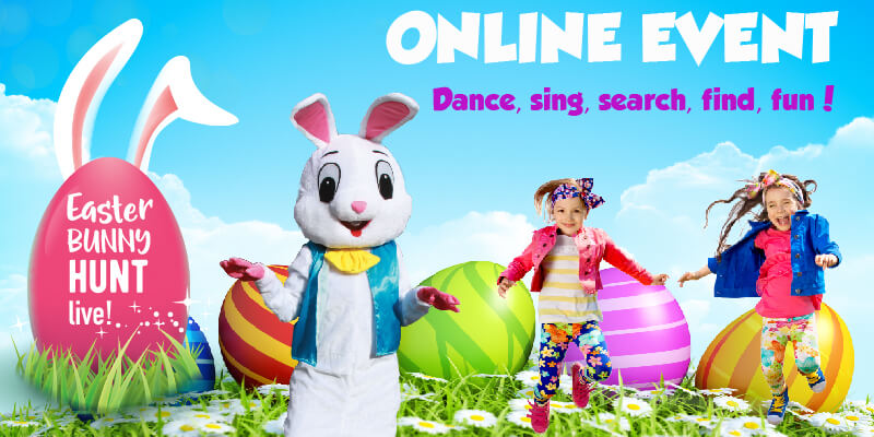 easter bunny love online event