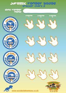 jurassic badge sheets for kids