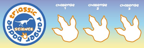 dino clue triassic science badge