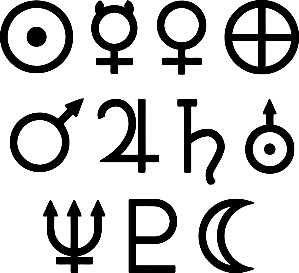 Quick Guide To Astronomical Planet Symbols