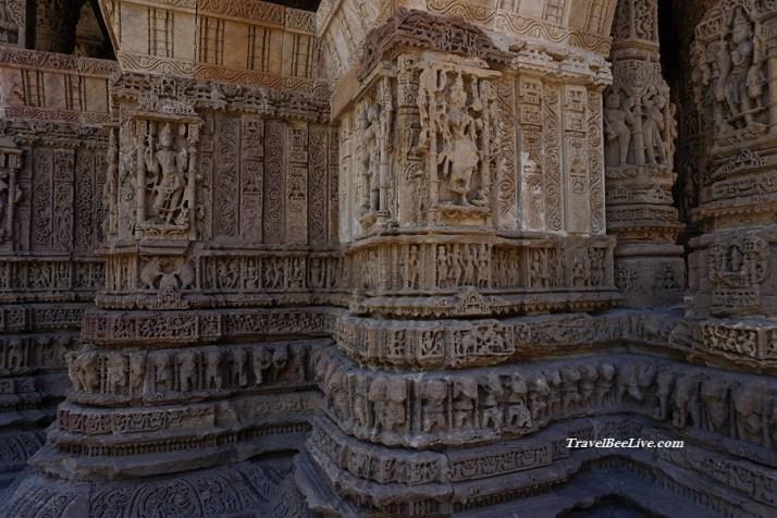 Pillar at sun temple Modhera