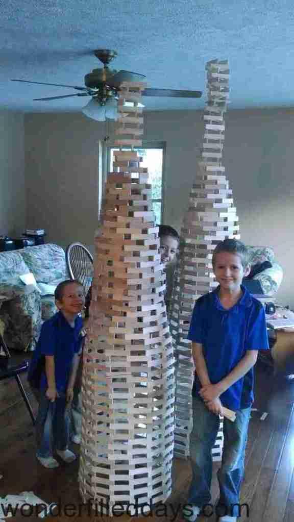 Creative Plank Tower