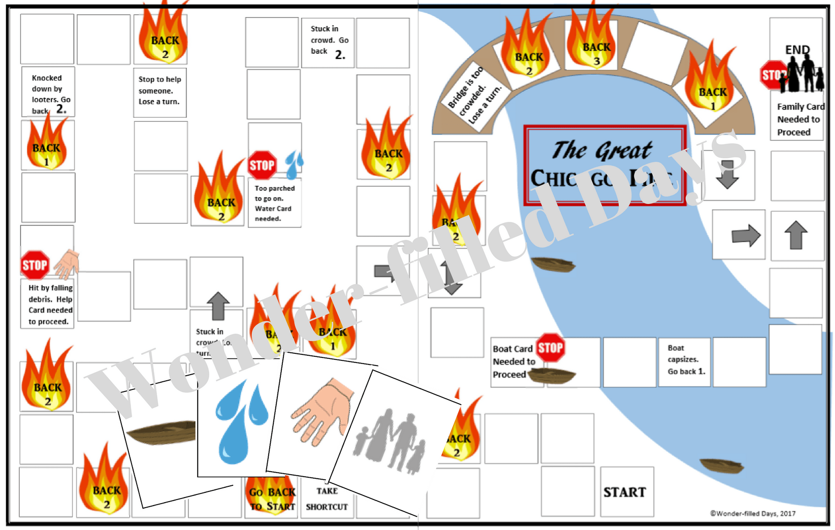 graphic relating to Board Game Printable identify Chicago Fireplace Printable Board Activity - Speculate-Stuffed Times