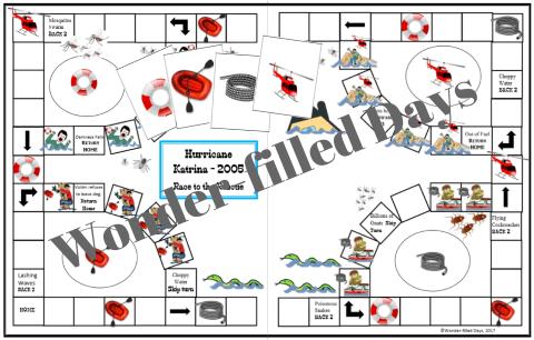 Hurricane Katrina Printable Game Board