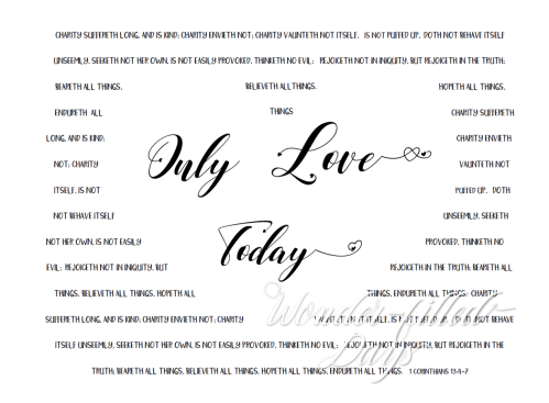 KJV Only Love Today Printable Quote