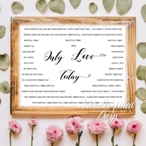 Only Love Today with 1 Corinthians Digital Quote, KJV