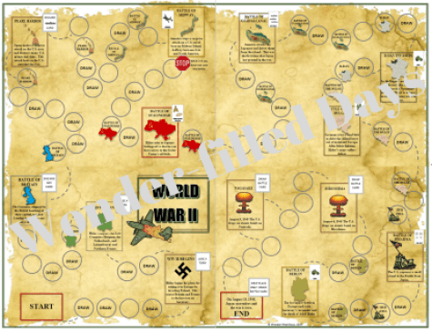 World War II File Folder Game