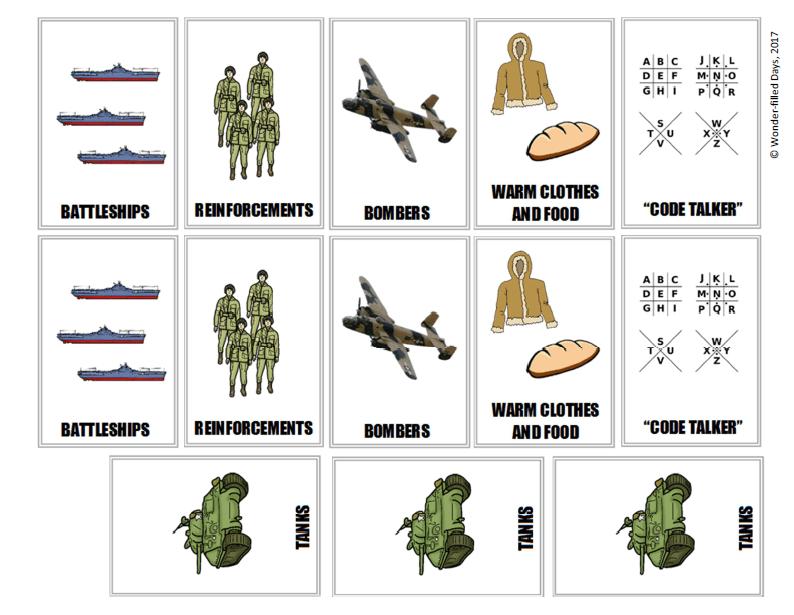 World War II Supply Cards