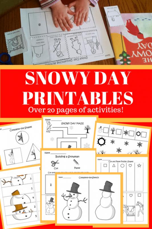 Preschool Snowy Day Printables