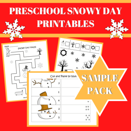 Sample PRESCHOOL SNOWY DAY PRINTABLES