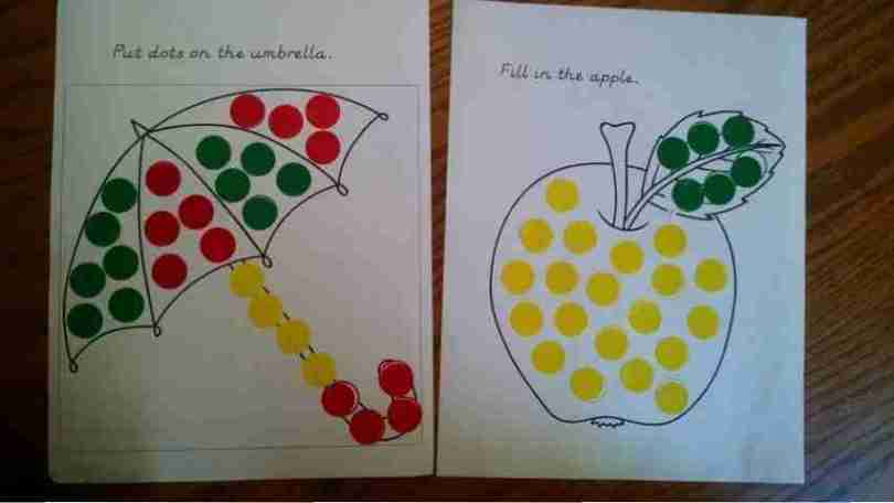 Do a Dot Sticker Activity