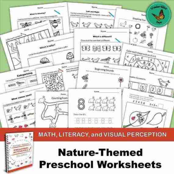 Nature-Themed Preschool Worksheets