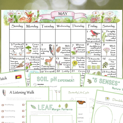 May Nature Calendar- 31 Days of Nature Activities