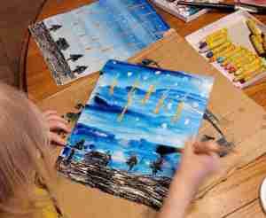 Meteor Shower Art Project for Kids