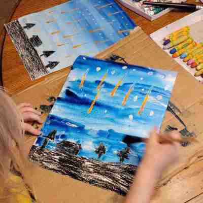 Meteor Shower Art Project for Kids