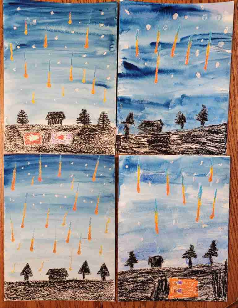 Meteor-Shower-Watercolor-Painting-For-Kids