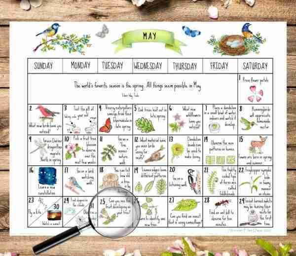 May 2021 Nature Calendar