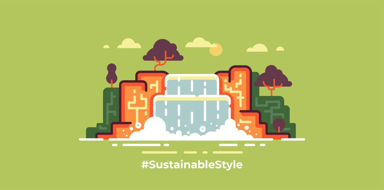 imagen que ilustra gráficamente la idea de sostenibilidad y respeto al medio ambiente