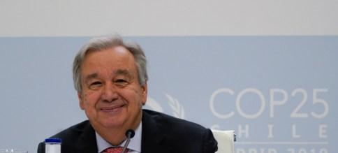 El Secretario General, António Guterres durante la COP25.