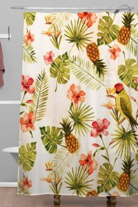 Totally Tropical Woven Shower Curtain  Wonder Forest Store