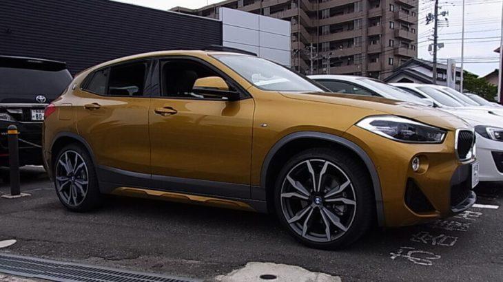 【BMW 新型 X2 試乗レビュー】 Part2 インテリア 前席編  インパネのデザイン良いぞ!! 高級腕時計のような佇まい?