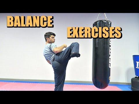 Balance Exercises for Kicking!! (Taekwondo/MMA/Karate)