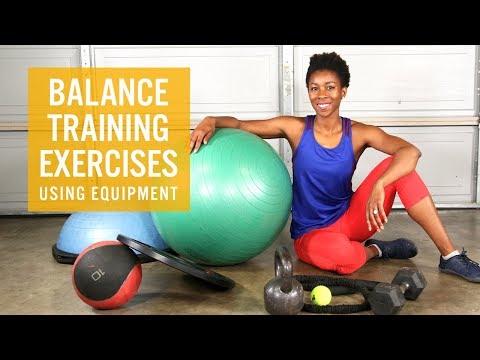 Balance Training Exercises Using Equipment