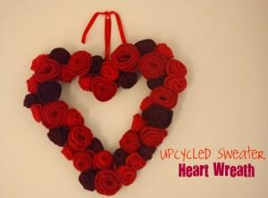 Sweater Heart Wreath