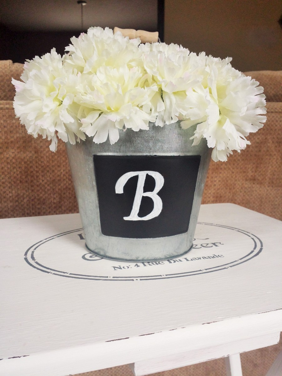 Tin Bucket With Flowers Centerpiece Wonderful Creations Blog