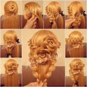 wonderful diy lace braid rose hairstyle
